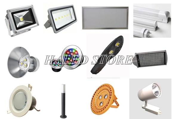 Đèn LED có nhiều kiểu dáng mẫu mã khác nhau