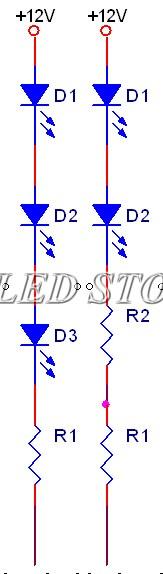 Cách đấu nối tiếp 3 đèn và dùng hạn trở