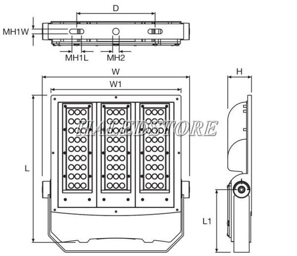 Bản vẽ đèn pha LED ORDA PURSOS G2 S-100