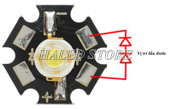 Vị trí đầu diot đèn LED