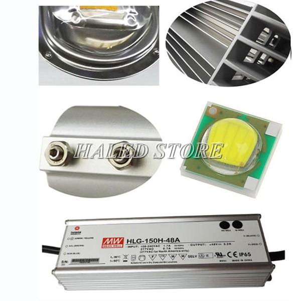 Đèn đường LED HLDAS9-50 sử dụng linh kiện chính hãng