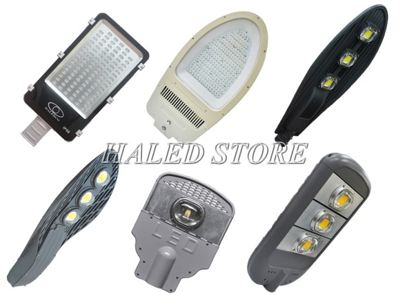 Đèn đường LED có nhiều kiểu dáng và công suất từ 20w đến 300w
