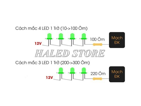 Sơ đồ mạch đèn LED nguồn 12V