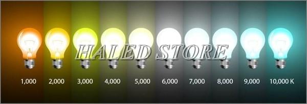 Cách xác định độ sáng của đèn LED theo nhiệt độ màu