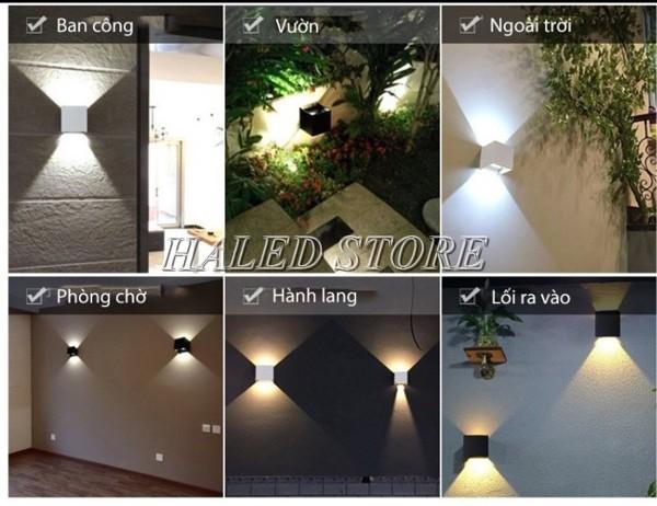 Đèn LED chiếu sáng dân dụng gắn tường