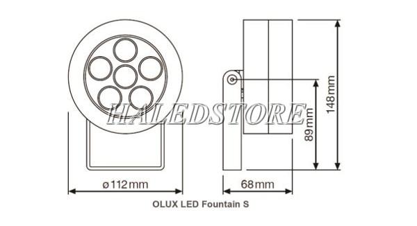 Bản vẽ đèn pha LED ORDA OLUX LED FOUNTAIN LIGHT M-24