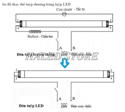 Sơ đồ đấu nối đèn LED M36