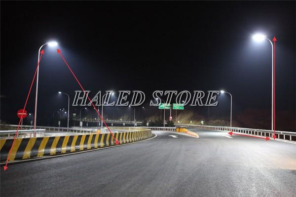 Đèn đường LED HLDAS28-150w chiếu sáng đường cao tốc