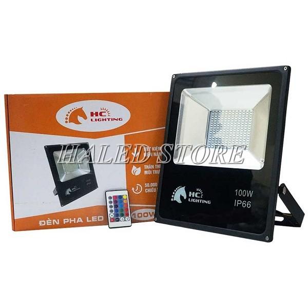 Đèn pha LED 7 màu 100W