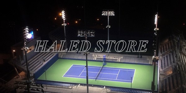 Cách bố trí đèn cho sân tennis hợp lý