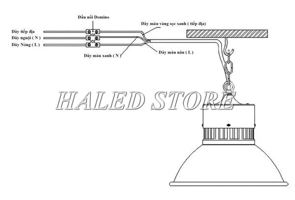Cách lắp đặt đèn LED Highbay Rạng Đông 70w
