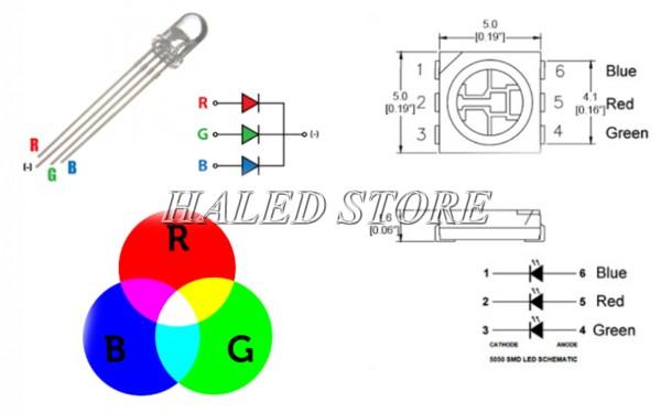 Cấu tạo chung của LED RGB