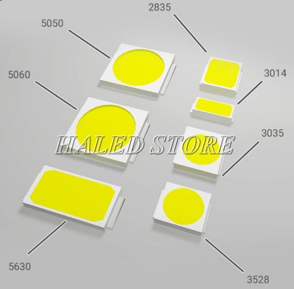 Các kích thước phổ biến của LED SMD
