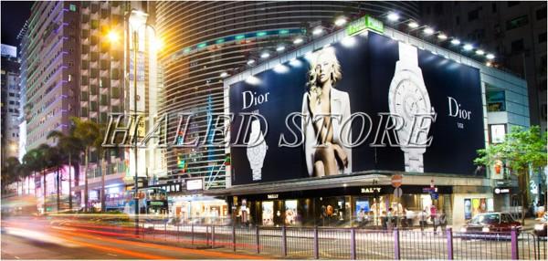 Ứng dụng chiếu biển quảng cáo của đèn pha LED HLDAFL1-20