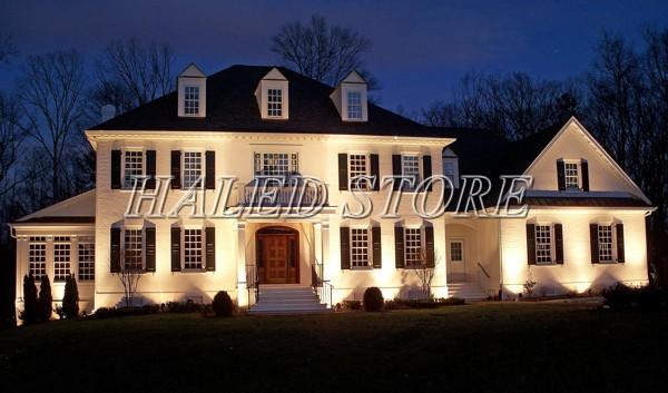 Ứng dụng chiếu hắt tòa nhà của đèn pha LED HLDAFL11-100
