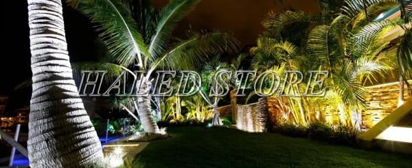 Ứng dụng chiếu sáng sân vườn của đèn pha LED HLDAFL6-50