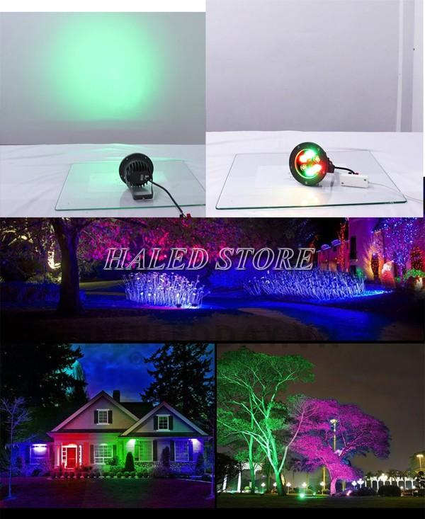 Ứng dụng đèn chiếu cây đổi màu