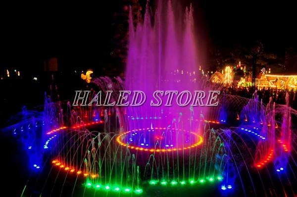 Ứng dụng của đèn LED âm nước đổi màu