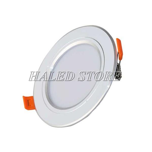 Kiểu dáng đèn LED âm trần HLDADLT5-7 fin bạc