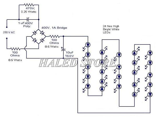 Sơ đồ đấu đèn LED 1m2