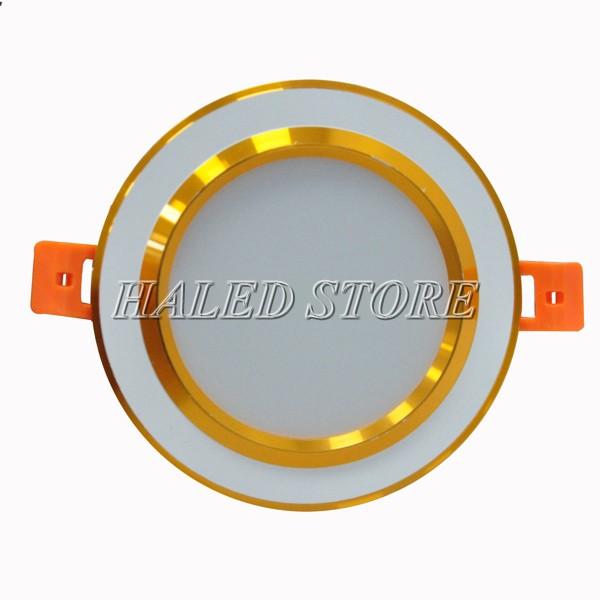 Kiểu dáng đèn LED âm trần HLDADLT5-9 fin vàng