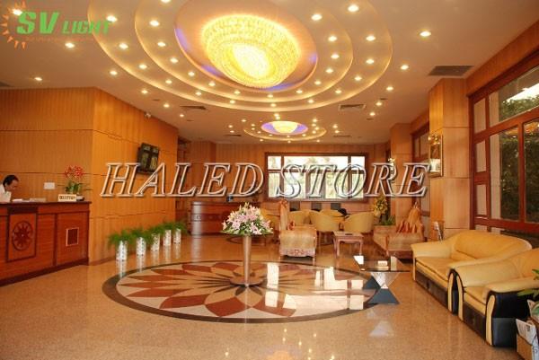 Ứng dụng chiếu sáng của đèn LED âm trần HLDADLT5-9 fin bạc