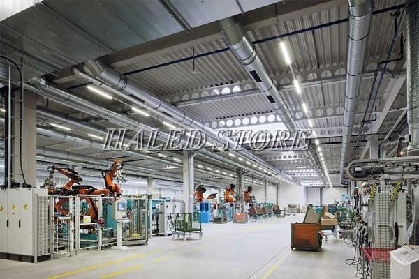 Đèn LED nhà xưởng PLDA BY450P LED136/PSU-115 ứng dụng trong chiếu sáng nhà máy