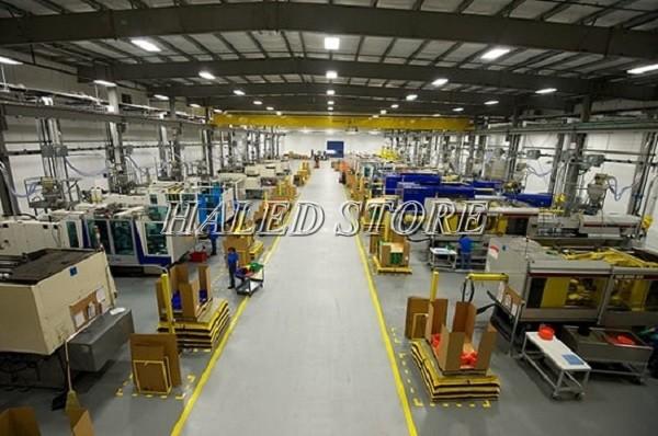 Đèn LED nhà xưởng PLDA BY560P 160/PSU-120 ứng dụng trong chiếu sáng nhà máy