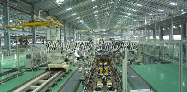 Đèn LED nhà xưởng PLDA BY570P 100/PSU-69 ứng dụng trong chiếu sáng nhà máy