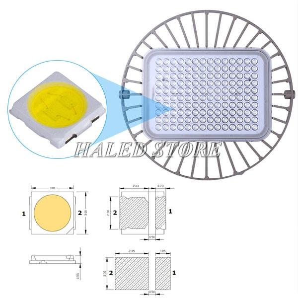 Đèn LED nhà xưởng HLDA BUFO2-150 sử dụng chip LED SMD