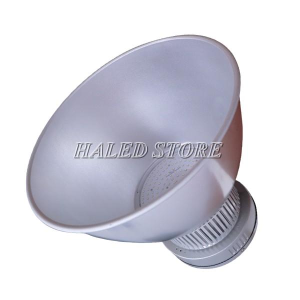Đèn LED nhà xưởng HLDAB5-200 khi dùng choá sâu 90 độ