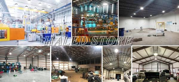 Ứng dụng của đèn LED nhà xưởng HLDA BUFO1-240