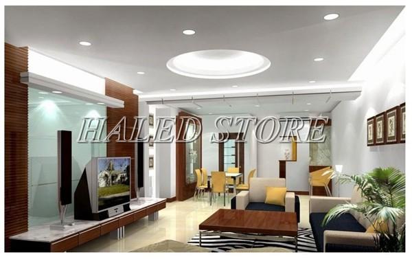 Ứng dụng chiếu sáng của đèn LED âm trần HLDADLT5-7 fin bạc