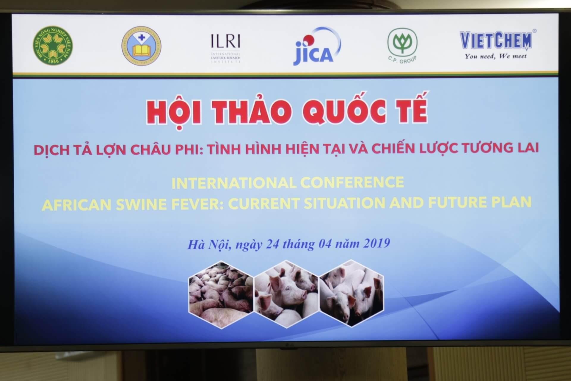 Hội thảo quốc tế dịch tả lợn châu phi tình hình hiện tại và chiến lược tương lai 1