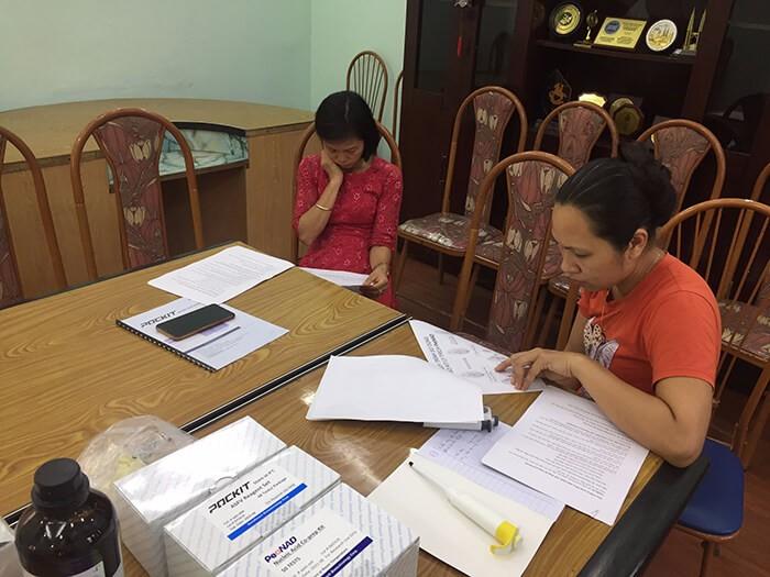 HappyVet và hoạt động bàn giao máy POCKIT Xpress và Kit ASF cho phòng lab công ty ở Thái Bình 4