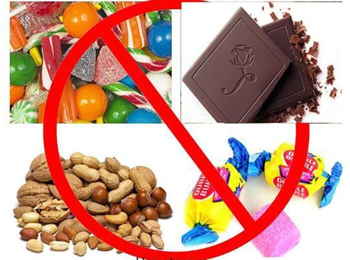 ChuộtHamster không nên ăn những loại đồ ngọt như kẹo, sô cô la
