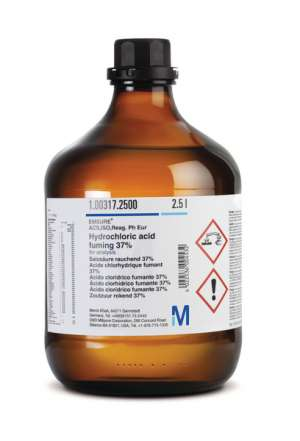 Hydrochloric acid fuming 37% for analysis EMSURE® ACS,ISO,Reag. Ph Eur 1l