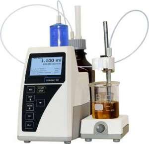 Burette chuẩn độ 20ml kèm khuấy từ điện tử hiện số Titronic® 300 285225820 SI Analytics (Schott)