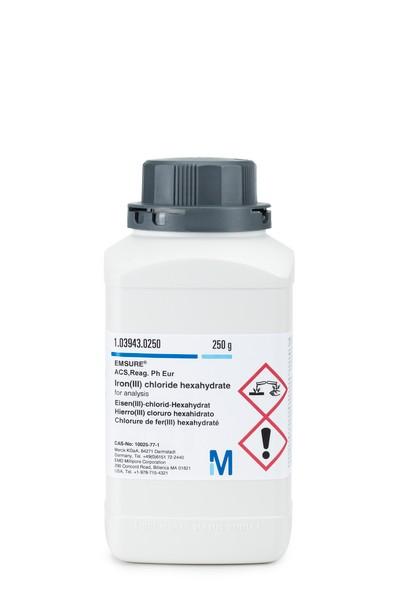 Iron(III) chloride hexahydrate for analysis EMSURE® ACS,Reag. Ph Eur-250g