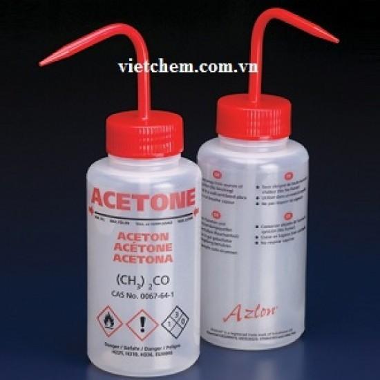 Bình tia nhựa LDPE miệng rộng 250ml đựng acetone Azlon