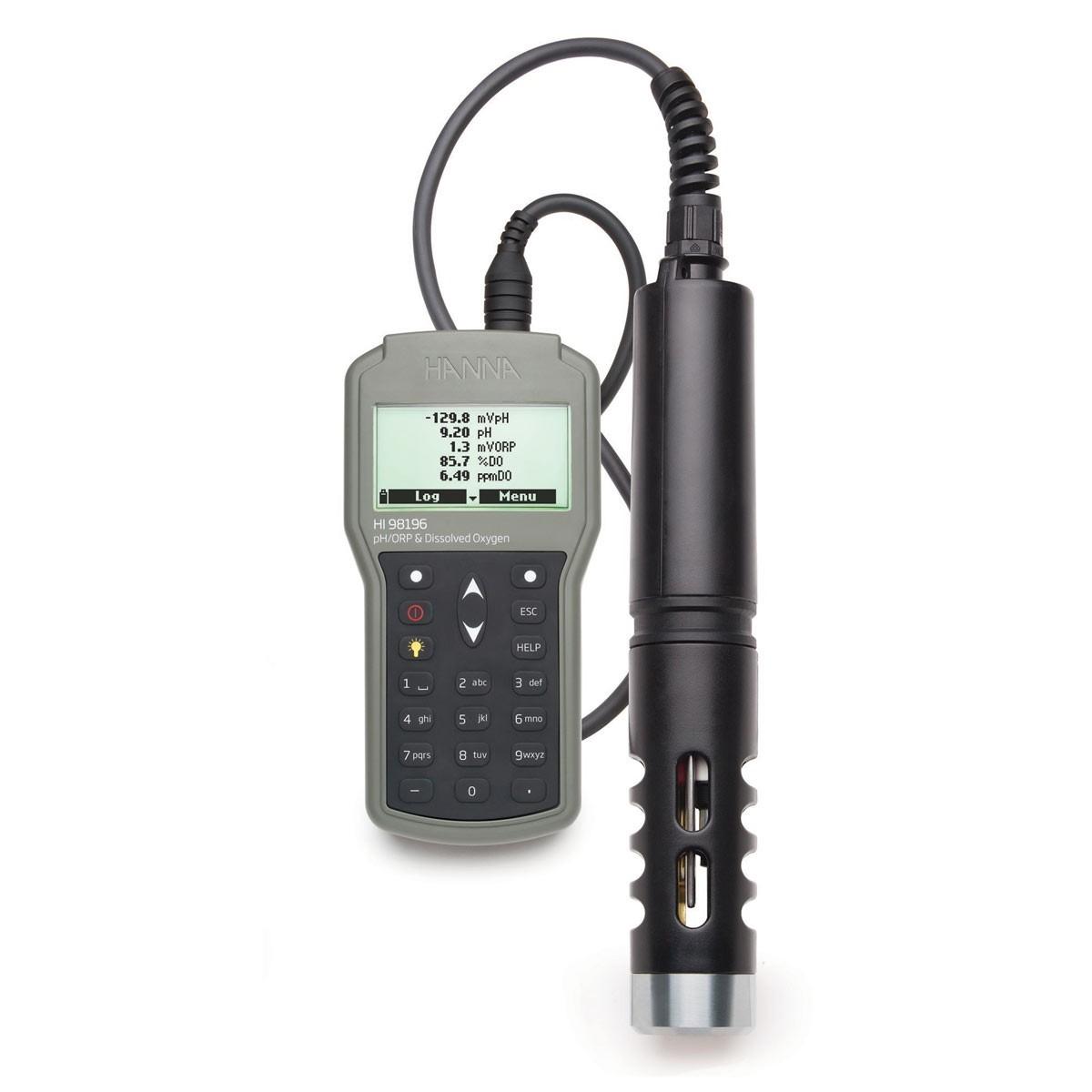 Máy đo pH/ORP/DO/Áp suất/Nhiệt độ chống thấm nước HI98196 Hanna