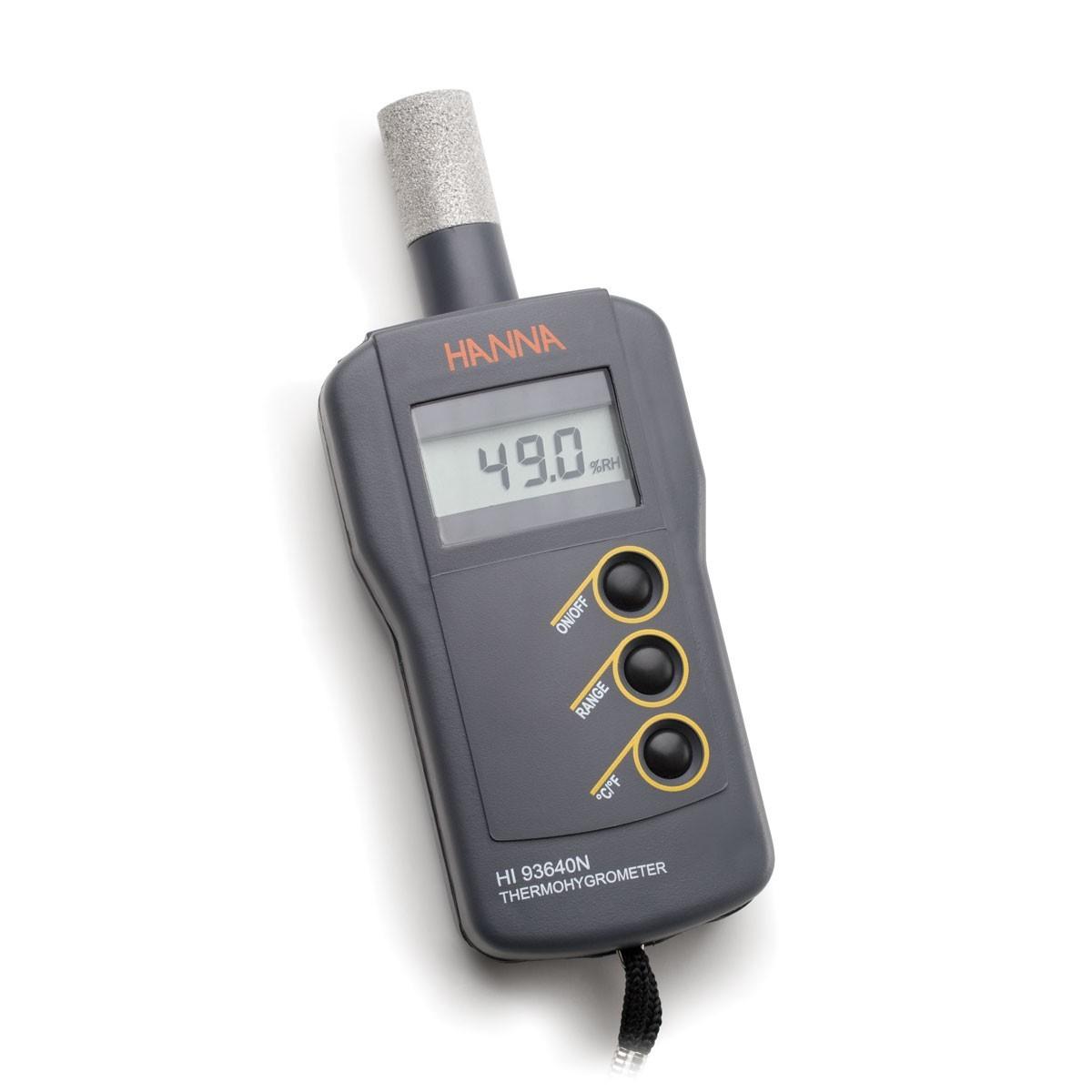 Máy đo độ ẩm/nhiệt độ cầm tay tích hợp đầu dò HI93640 Hanna