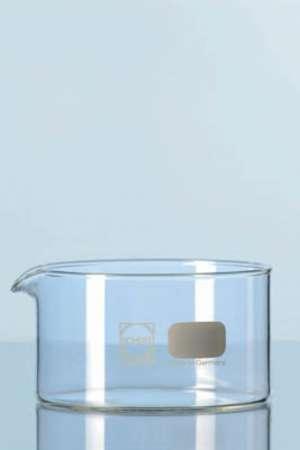 Chậu thủy tinh, đường kính 115mm, cao 65mm, 500ml, có mỏ Duran