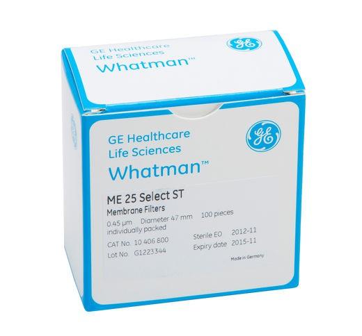 ME25/21 Màng lọc Mixed esters, kẻ sọc đen, tiệt trùng, 0.45µm, 3.1, 47mm Whatman
