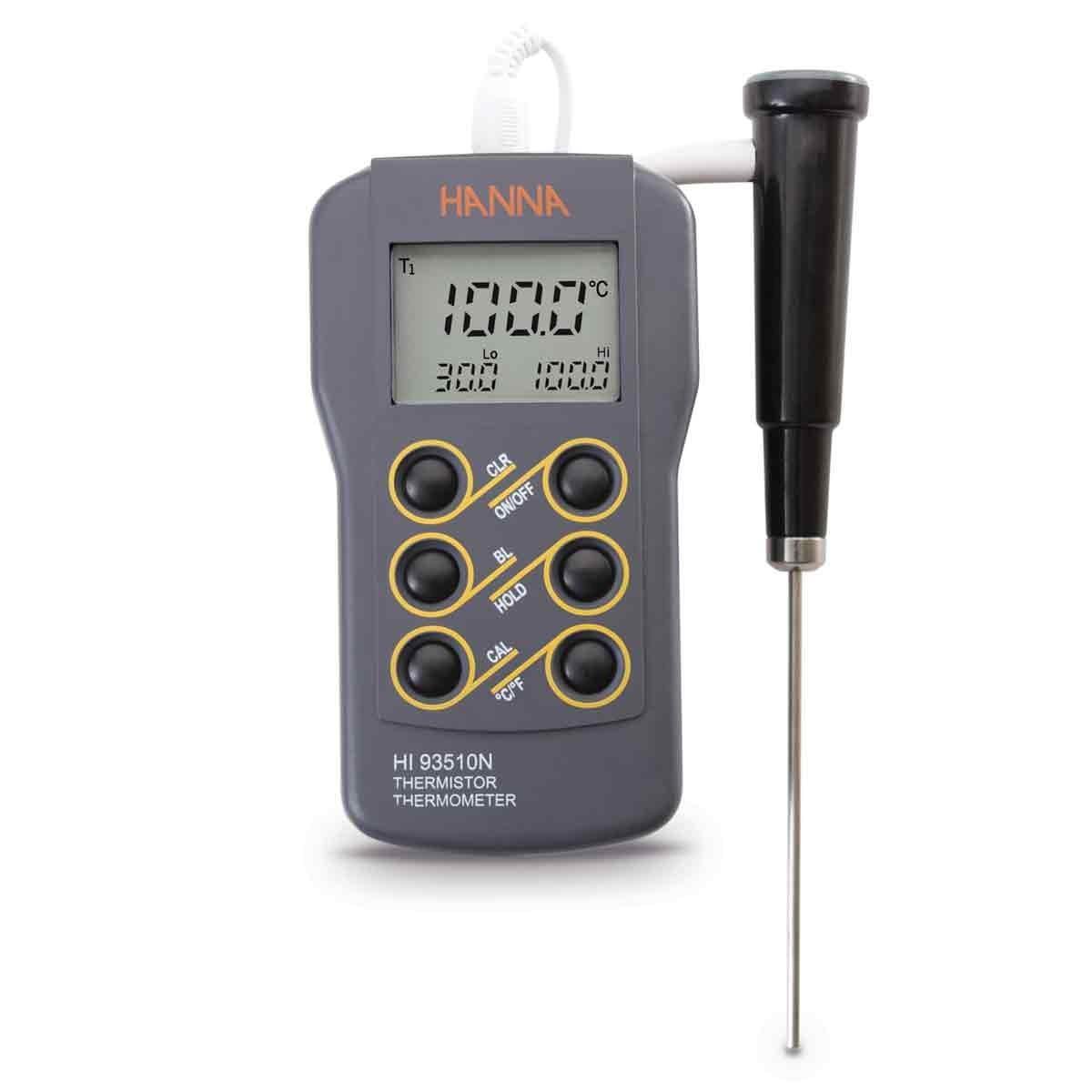 Máy đo nhiệt độ chống thấm nước HI93510N Hanna