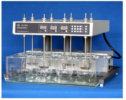Máy đo độ hòa tan 8 cốc RC-08D Trung Quốc