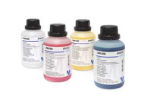 Buffer solution (boric acid/potassium chloride/sodium hydroxide) colour coded: blue, traceable to NIST and PTB pH 10.00 (25°C) CertiPUR® 500ml Merck