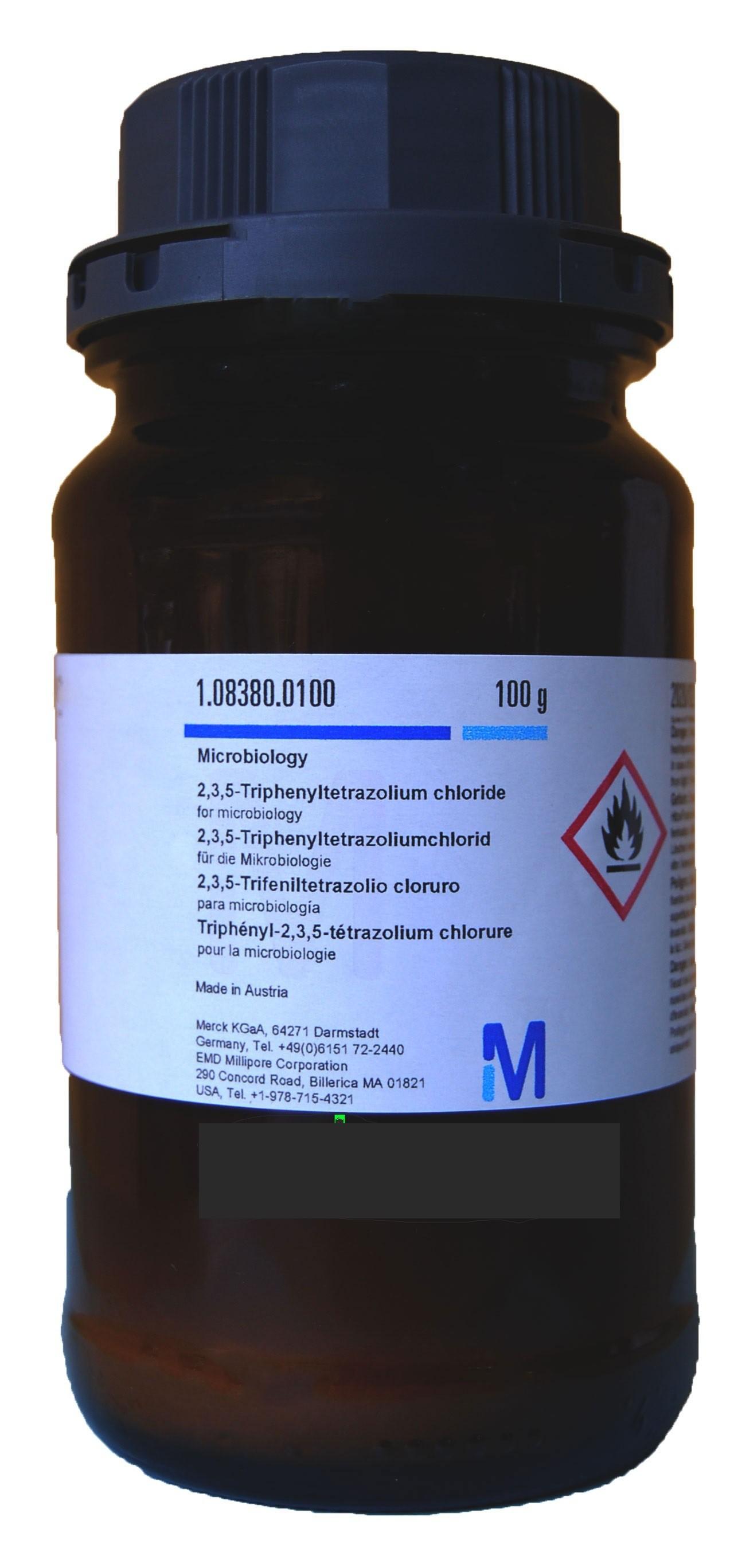2,3,5-Triphenyltetrazolium chloride for microbiology 100g Merck