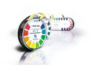 pH-indicator paper pH 6.4 - 8.0 Special indicator Roll (4.8 m) with colour scale pH 6.4 - 6.7 - 7.0 - 7.2 - 7.5 - 7.7 - 8.0 - >8.0 Merck