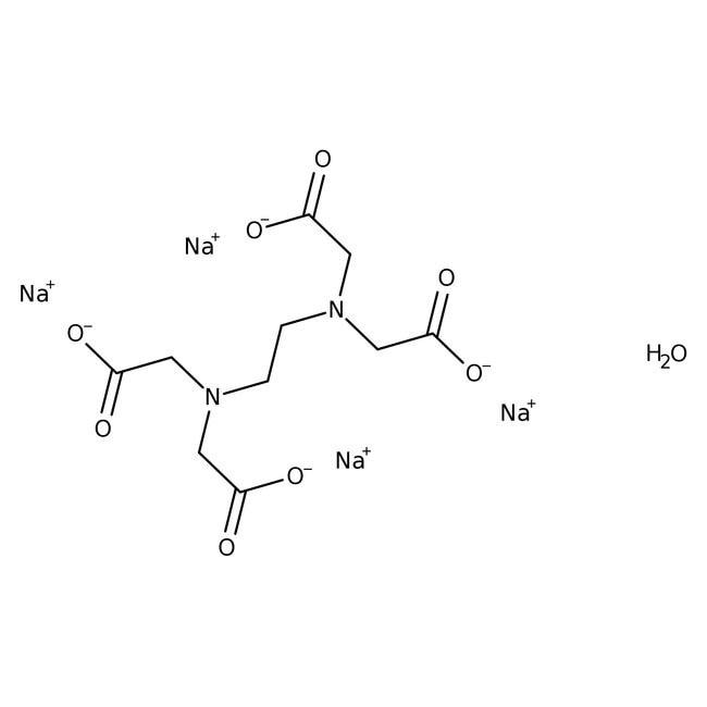 Ethylenediaminetetraacetic acid, tetrasodium salt hydrate, 98%, pure 500g Acros